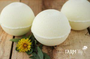 All Natural Dandelion Bath Bombs Recipe