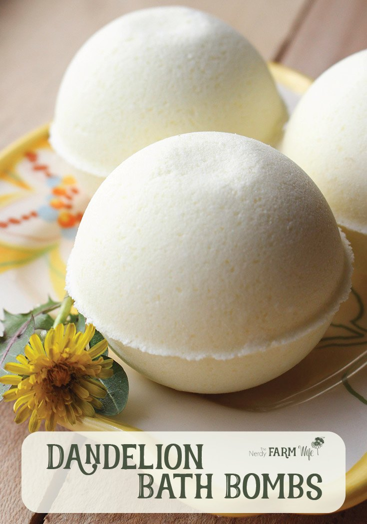 Natural Dandelion Bath Bombs Recipe