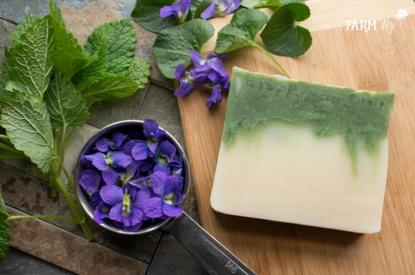 Violet Leaf Soap Recipe