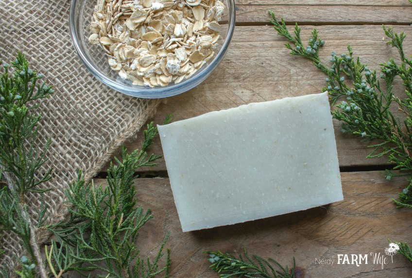 Cedarwood & Oatmeal Cold Process Soap Recipe