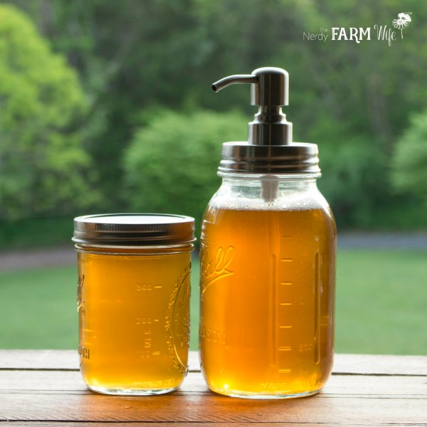 How to make dandelion and honey liquid soap recipe