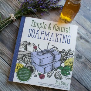 A book cover that says Simple & Natural Soapmaking