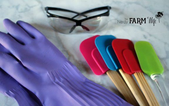 Gloves Goggles Spatulas for Soapmaking