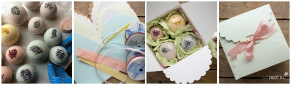 Bath Bombs Being Packaged