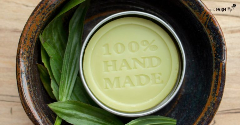 Green Gold Lotion Bars (+ printable labels)
