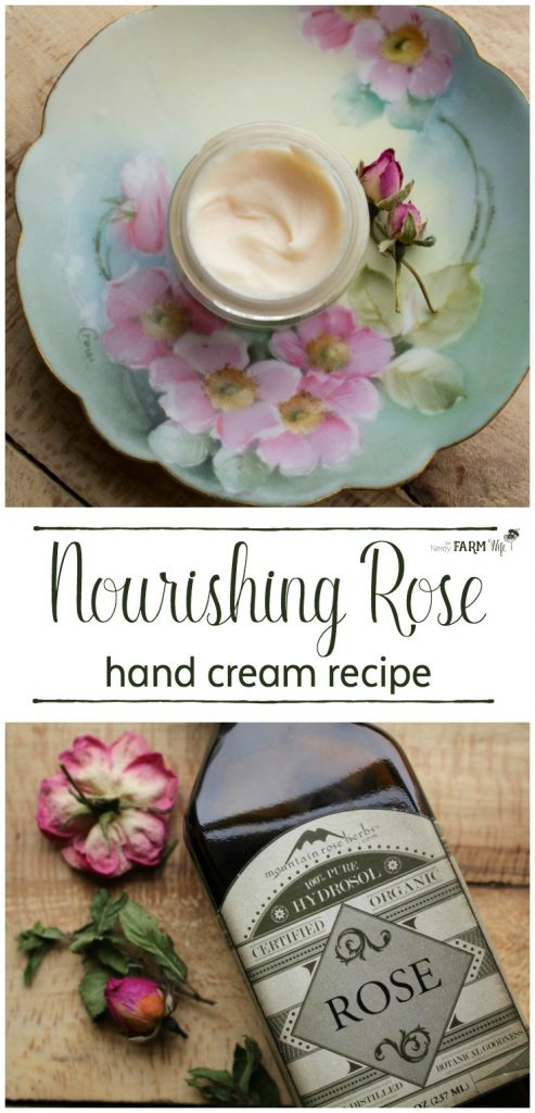 This DIY nourishing rose hand cream recipe is perfect for those with dry chapped hands. Its light texture absorbs readily into your skin, leaving it softer and smoother.