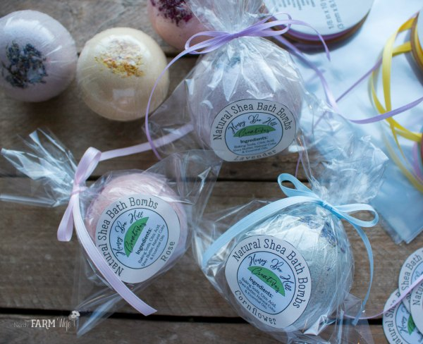 Packages of Bath Bombs