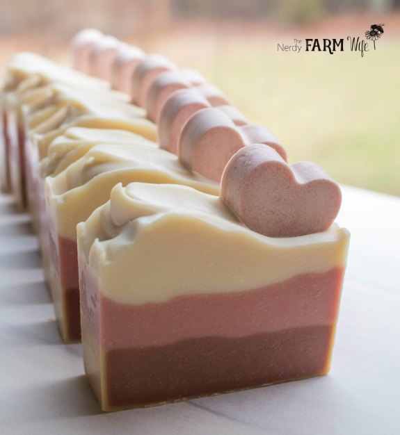 Valentine Soap with Hearts - Cold Process Recipe