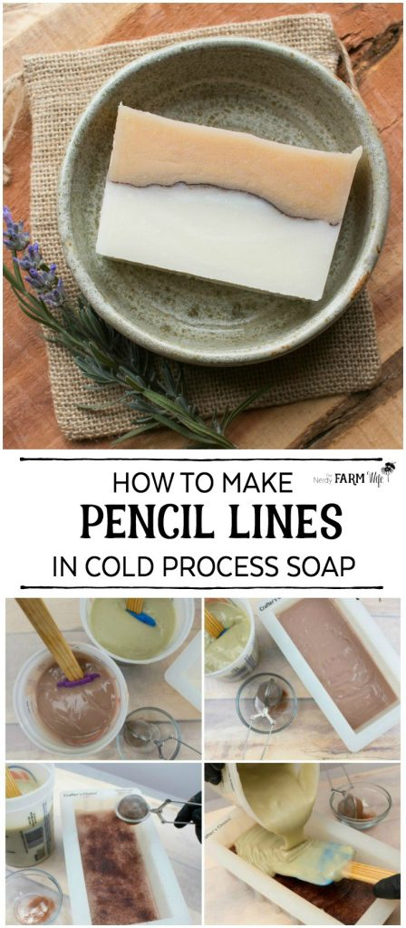 Learn how easy it is to make pencil lines to add visual interest to your handmade cold process soaps. Also includes 12 natural colorant options to experiment with!