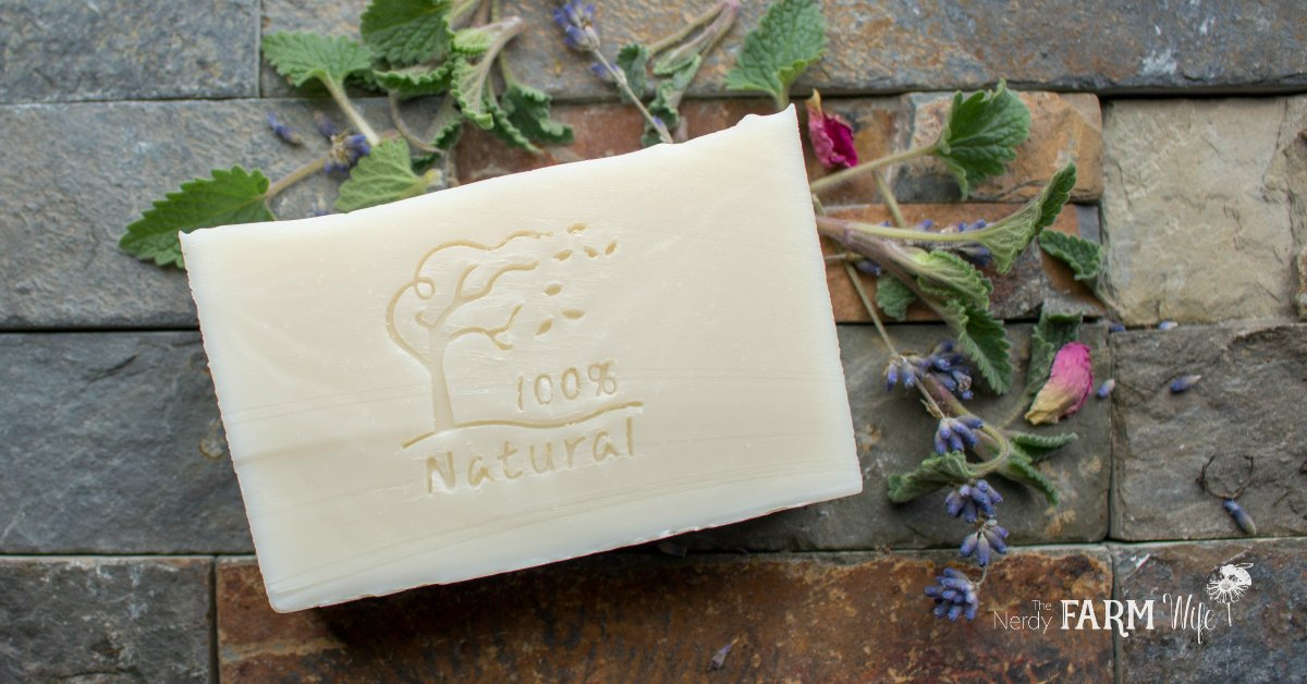 Mild Unscented Bar of Soap with 100% Natural Soap Stamp