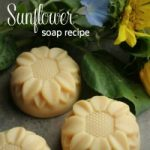 sunflower shaped soaps