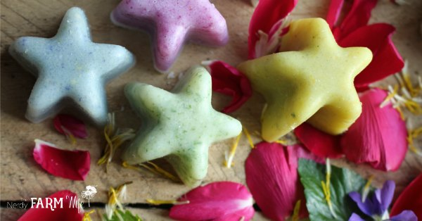 Floral Salt Scrub Bars Recipe
