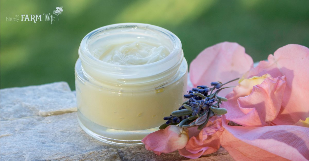 a jar of rose and lavender balm