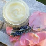 This easy DIY creamy lavender rose balm recipe contains calendula to help heal chapped sore skin, plus essential oils for a pretty floral scent.