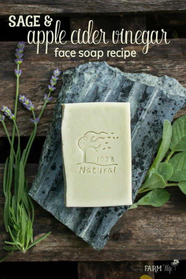 Sage and Apple Cider Vinegar Face Soap Recipe - This herbal vinegar face soap recipe features sage for its astringent and anti-inflammatory properties, plus chlorella, a nutritious algae that has impressive acne fighting and anti-aging skin benefits. This vinegar face soap recipe is designed for those with normal to oily, and/or acne-prone skin.