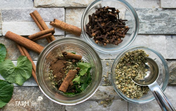 Ingredients to make DIY natural aftershave