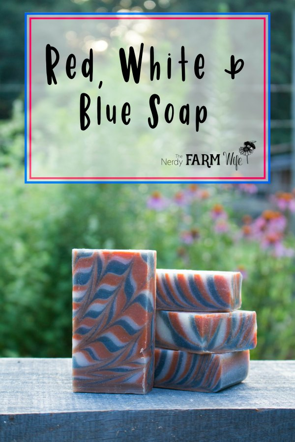 Red, White, and Blue Swirl Soap - Made with natural botanicals and clays for color, and scented with a blend of essential oils, this red, white & blue soap features a pretty swirl pattern.