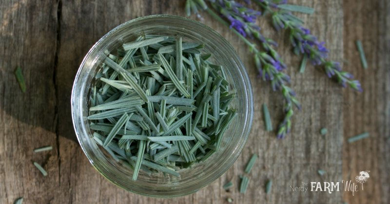 a jar of lavender leaves