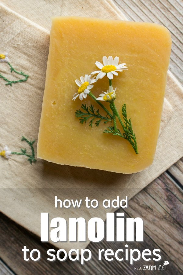 How to add lanolin to soap recipes - Learn how to adjust for and add lanolin to soap recipes, plus guidelines for using it.