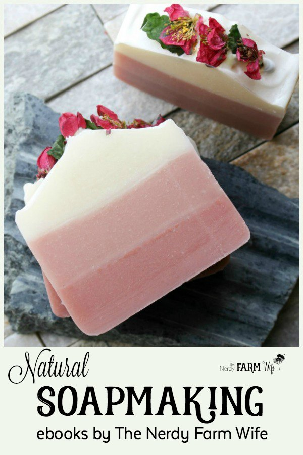 Natural Soapmaking Ebooks {à la carte} - Learn more about the natural soapmaking ebooks, print book & video course offered by The Nerdy Farm Wife.