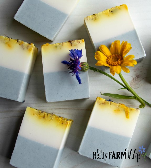 bars of wedding favor soap on a table
