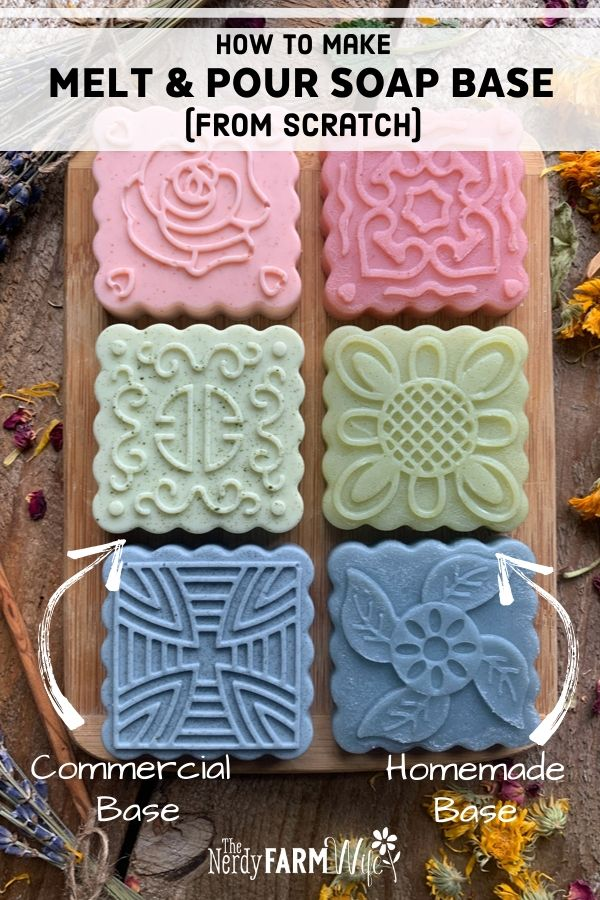 melt and pour soap base naturally colored with madder root spirulina and indigo powder