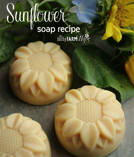 bars of sunflower shaped soaps