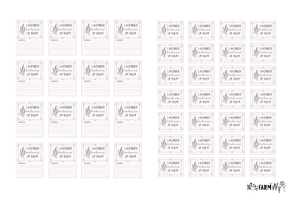 thumbnail of printable lip balm labels