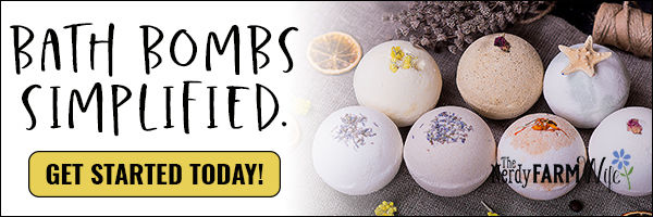variety of natural bath bombs, text says Bath Bombs Simplified