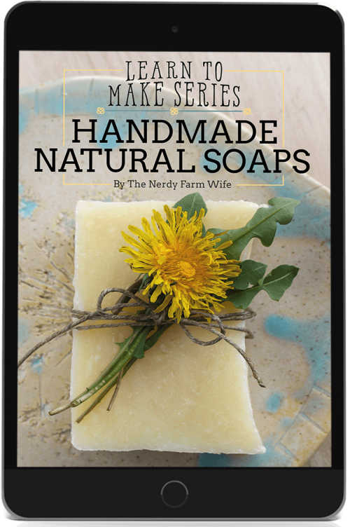 Handmade Natural Soaps eBook in a black ipad