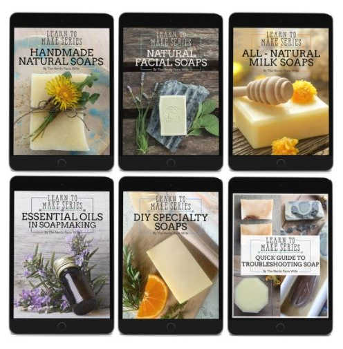 collection of handmade soap ebooks
