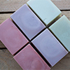 soaps colored with natural clays
