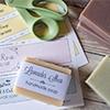 cutting soap labels