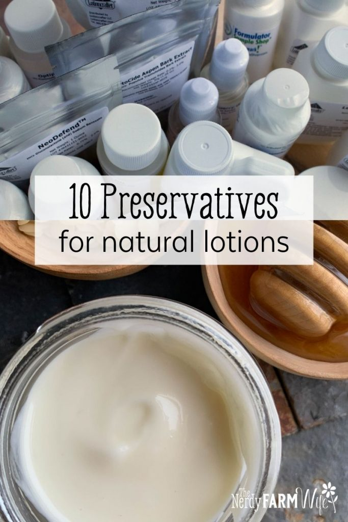 box of preservatives and a jar of homemade face cream