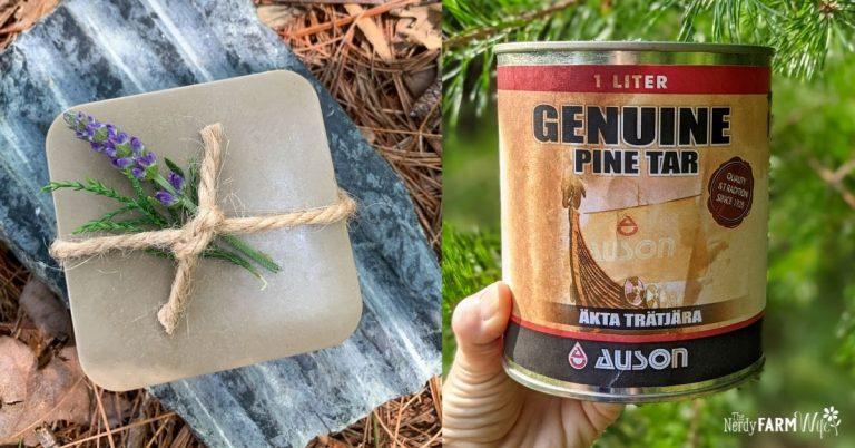 Pine Tar Soap (with Melt & Pour Base)