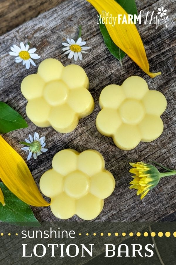 flower shaped lotion bars