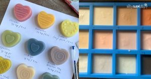 various small bars of soap in different colors